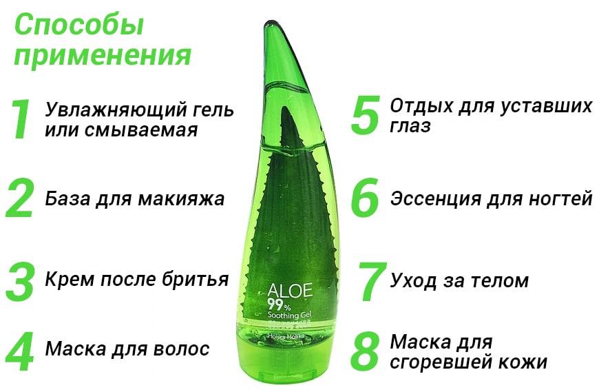 применение Aloe Gel