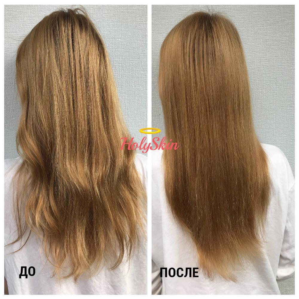 Волосы до/после сухого шампуня