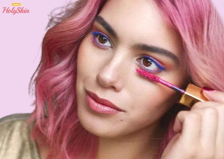 макияж 2020 цветная тушь