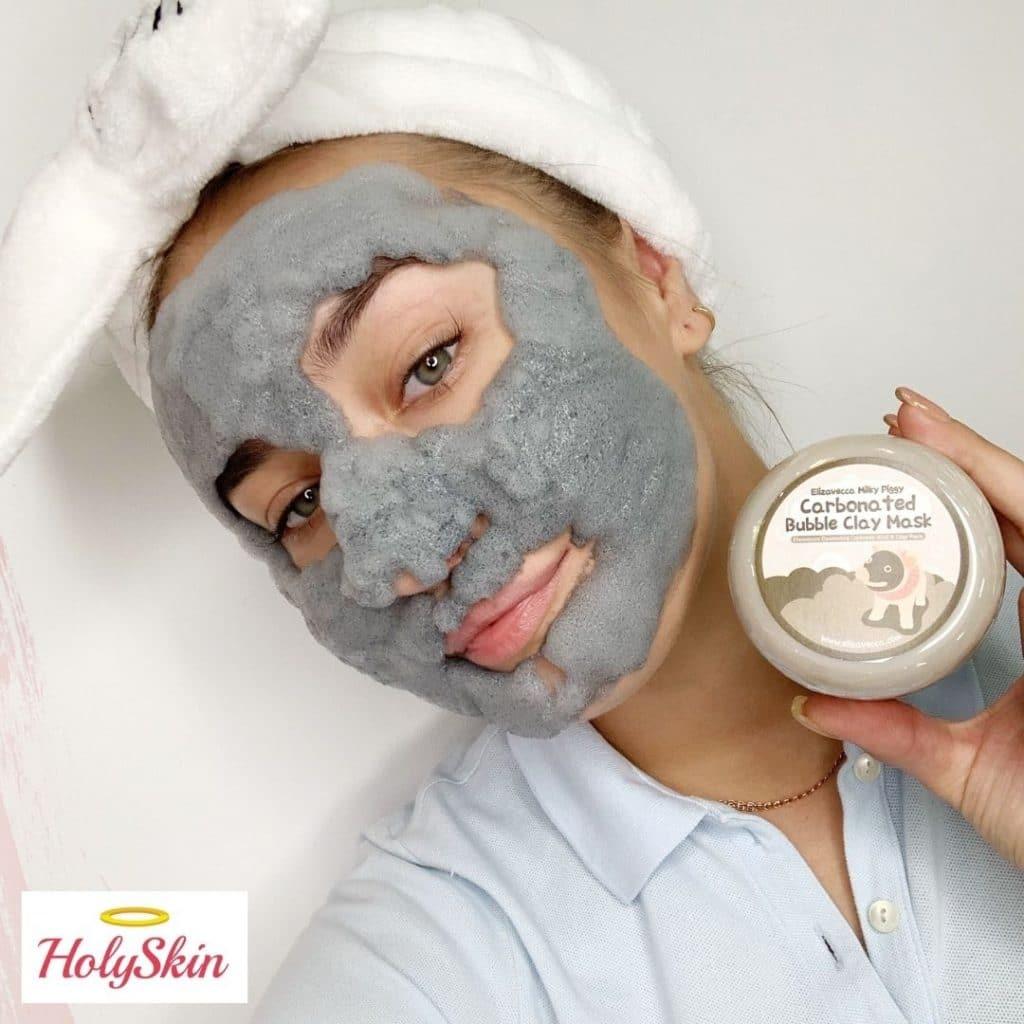Глиняно-пузырьковая маска для лица Milky Piggy