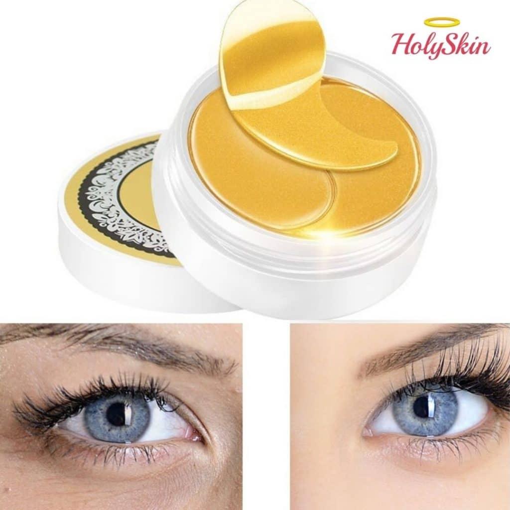 Эффект от патчей для глаз с коллоидным золотом