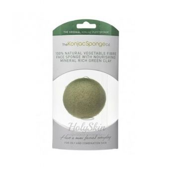 Konjac Facial Puff Sponge French Green Clay