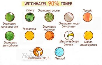 Witchhazel 90% Toner Mizon купить