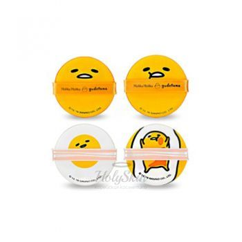 Gudetama Chop Chop Cushion Puff Set description
