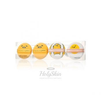 Gudetama Chop Chop Cushion Puff Set Holika Holika