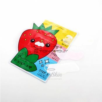 Homeless Strawberry Seeds 3-step Nose Pack Tony Moly купить