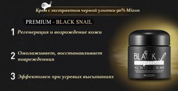 BLACK Snail All In One Cream Mizon