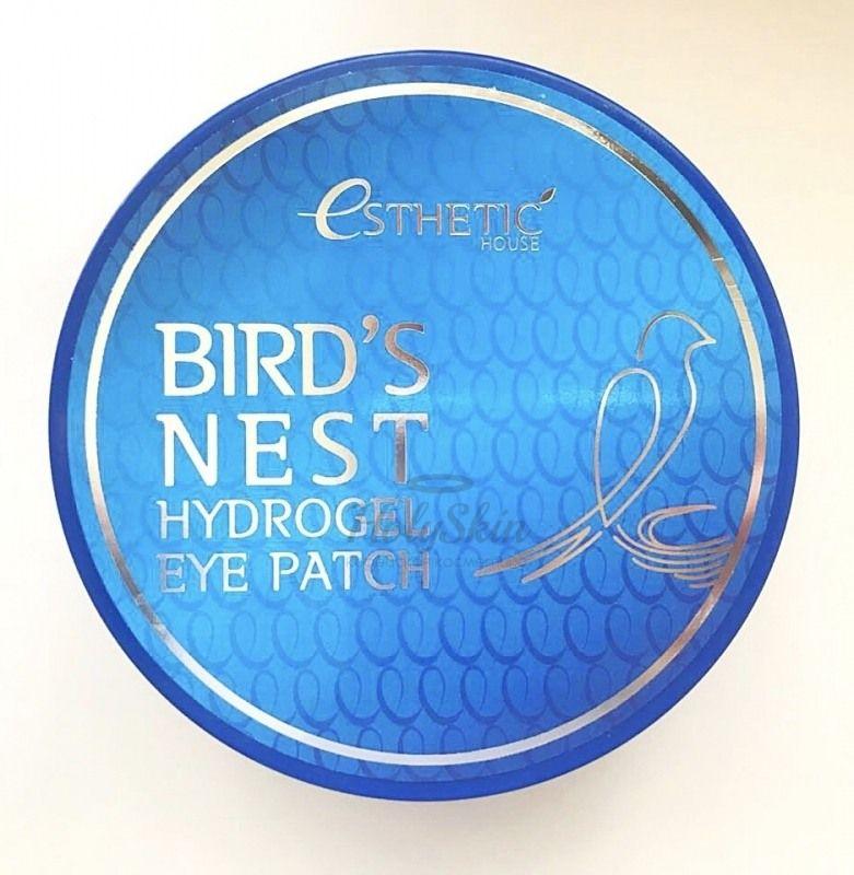 Купить Гидрогелевые патчи для глаз помогают устранить отёки, тёмные круги под глазами, мимические морщины и пигментные пятна Esthetic House, Bird's Nest Hydrogel Eyepatch, Южная Корея