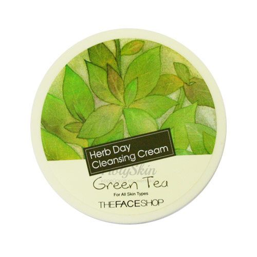 Herb Day Cleansing Cream Green Tea description