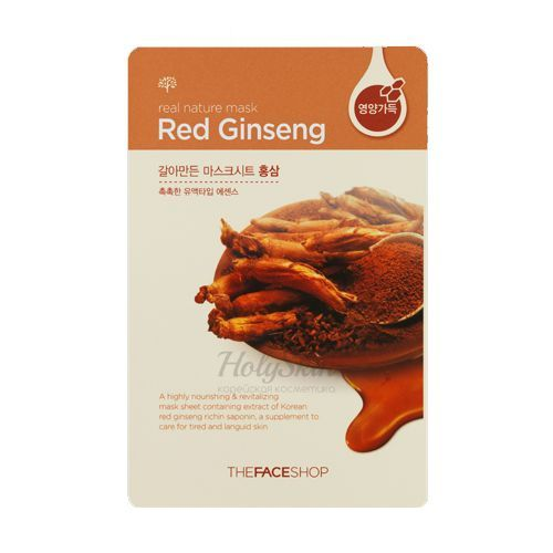 Real Nature Mask Red Ginseng description