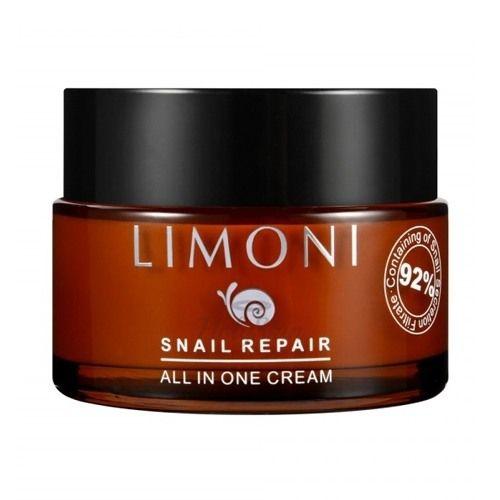 Купить Крем с муцином улитки Limoni, Snail Repair All In One Cream, Южная Корея