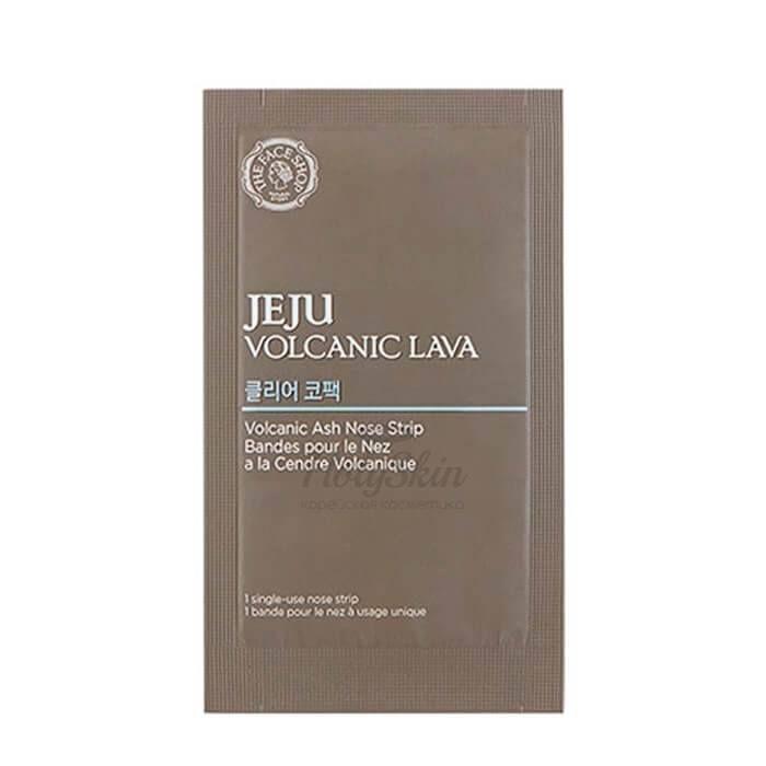 Пластырь для носа The Face Shop Jeju Volcanic Lava Volcanic Ash Nose Strips фото