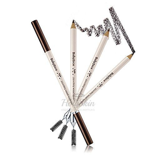 Купить Мягкий карандаш для бровей It's Skin, Babyface Powdery Wood Eyebrow, Южная Корея