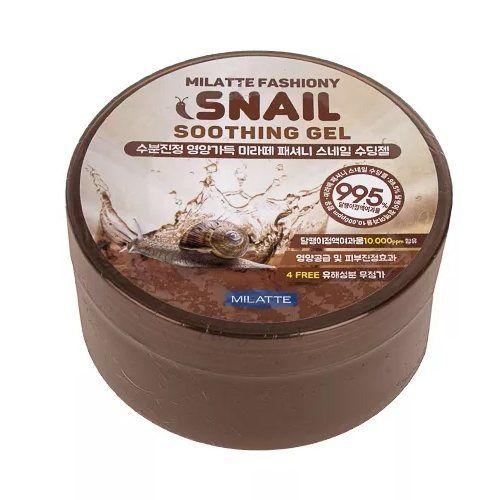 Купить Многофункциональный гель с муцином улитки Milatte, Fashiony Snail Soothing Gel, Южная Корея