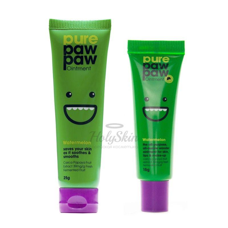 Универсальный бальзам для губ и тела с ароматом арбуза Pure Paw Paw Watermelon Ointment фото