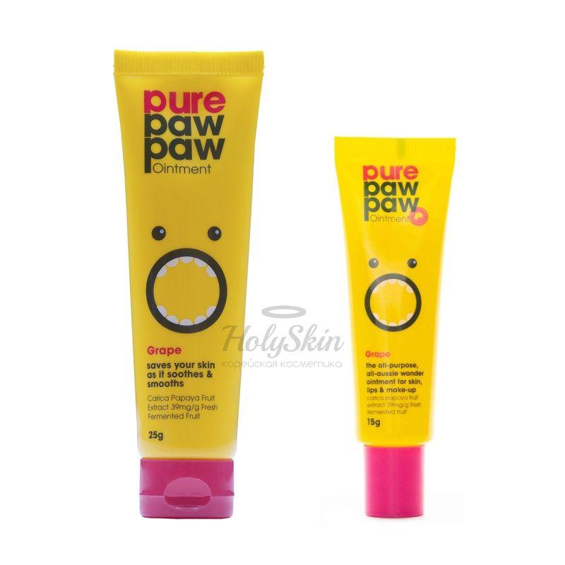 Универсальный бальзам для губ и тела с ароматом винограда Pure Paw Paw Grape Ointment фото
