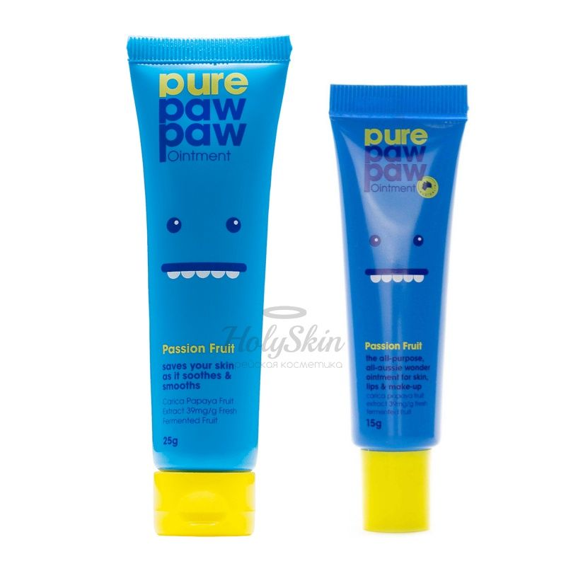 Универсальный бальзам для губ и тела с ароматом маракуйи Pure Paw Paw Passion Fruit Ointment фото