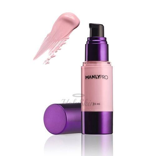 Освежающая увлажняющая база под макияж Manly PRO — Manly Pro База под макияж увлажняющая освежающая HD прозрачно-нежно-розовая