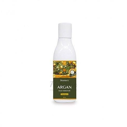 Купить Увлажняющий шампунь для волос Deoproce, Argan Silky Moisture Shampoo 200ml, Южная Корея