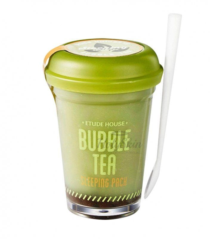 Bubble Tea Sleeping Pack Green Tea description