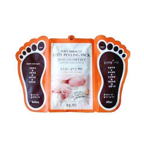 Купить Пилинговые-носочки для ног Mijin, Foot Peeling Pack, Южная Корея