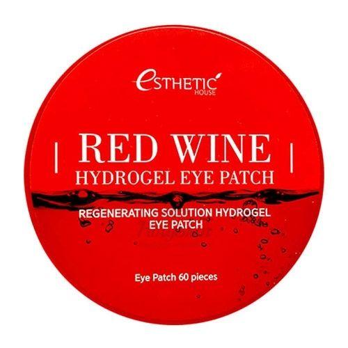 Купить Омолаживающие гидрогелевые патчи Esthetic House, Red Wine Hydrogel Eye Patch, Южная Корея