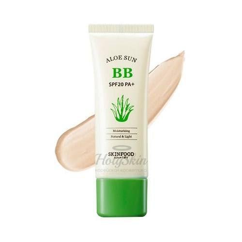 Купить Солнцезащитный BB крем SKINFOOD, Aloe Sun BB Cream SPF 20, Южная Корея