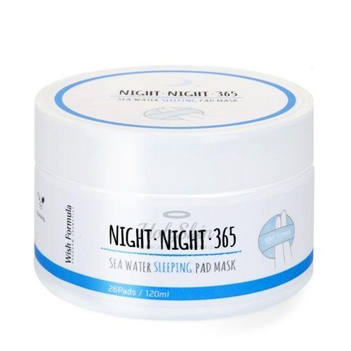 Высококонцентрированные диски для лица Wish Formula Night 365 Sea Water Sleeping Pad Mask