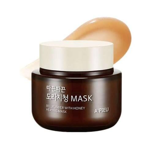 Купить Согревающая маска для лица с медом A'Pieu, Bellflower with Honey Heating Mask, Южная Корея