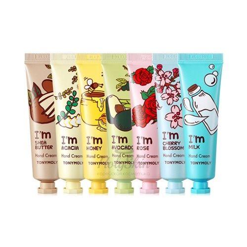 Купить Крем для рук с маслом Ши обеспечивает интенсивное увлажнение, полноценное питание и надежную защиту от обветривания Tony Moly, I'm Hand Cream, Южная Корея