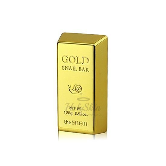 Очищающее мыло The Saem Snail 100 Gold Snail Bar фото