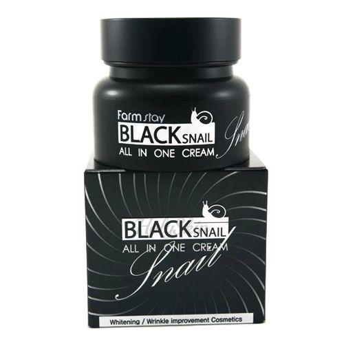 Купить Многофункциональный крем с муцином улитки Farmstay, Farmstay Black Snail All in One Cream, Южная Корея