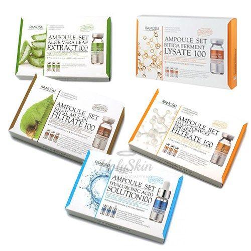 Купить Высококонцентрированная сыворотка для увлажнения кожи Ramosu, Ramosu Concentrate Ampoule Set, Южная Корея