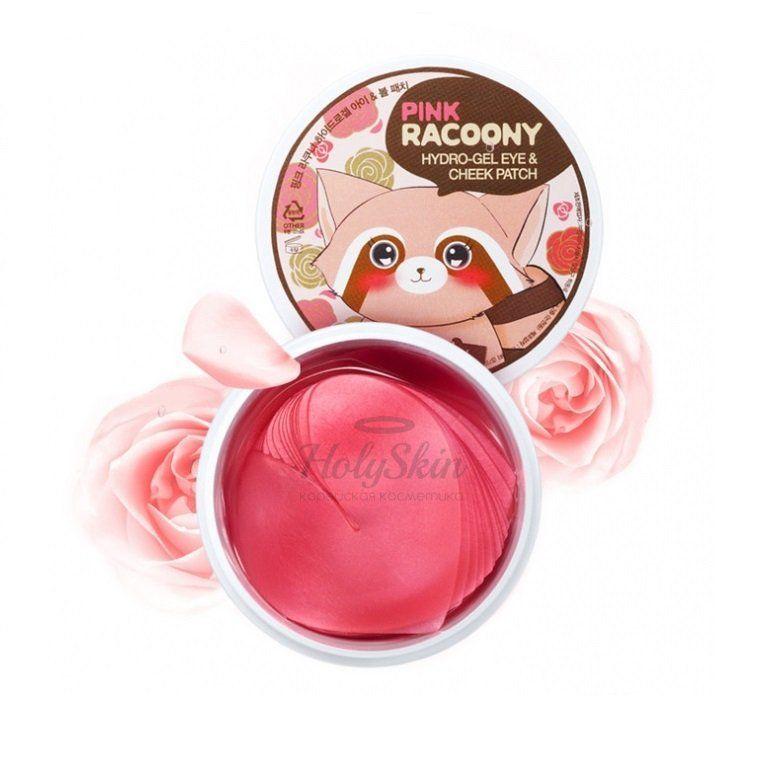 Купить Гидрогелевые патчи для глаз и щёк с дамасской розой Secret Key, Pink Racoony Hydro-Gel Eye and Cheek Patch, Южная Корея