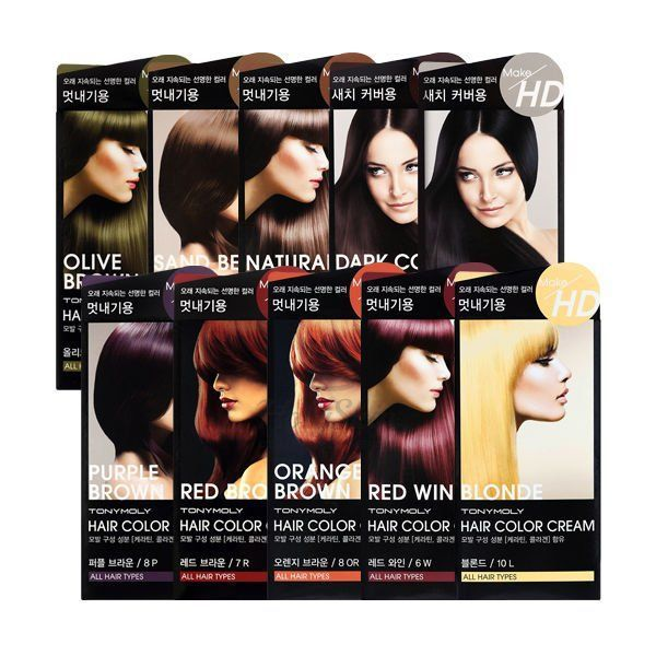 Make HD Hair Color Cream Tony Moly купить