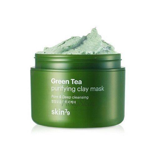 Купить Освежающая маска с зеленым чаем Skin79, Green Tea Clay Mask, Южная Корея
