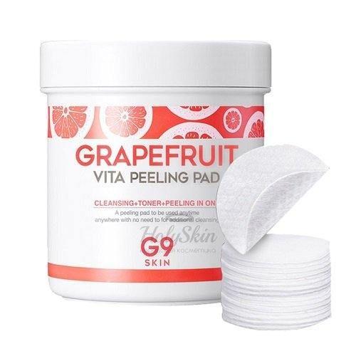 Купить Мягкие пилинговые салфетки с экстрактом грейпфрута G9SKIN, G9 Skin Grapefruit Vita Peeling Pad, Южная Корея