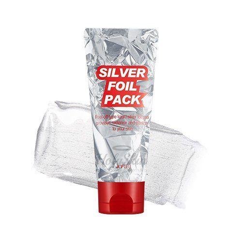 Разглаживающая маска-фольга A'Pieu Silver Foil Pack фото