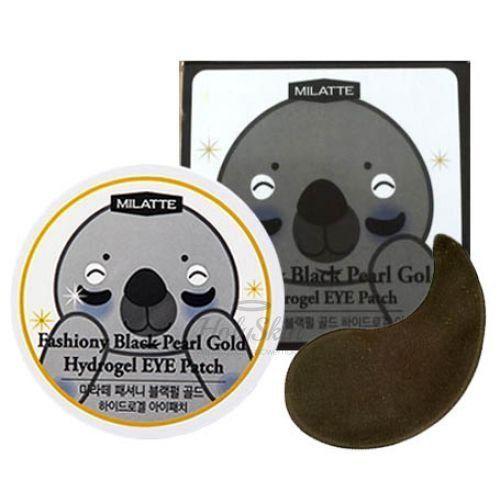 Купить Патчи для век с черным жемчугом Milatte, Fashiony Black Pearl Gold Hydrogel Eye Patch, Южная Корея