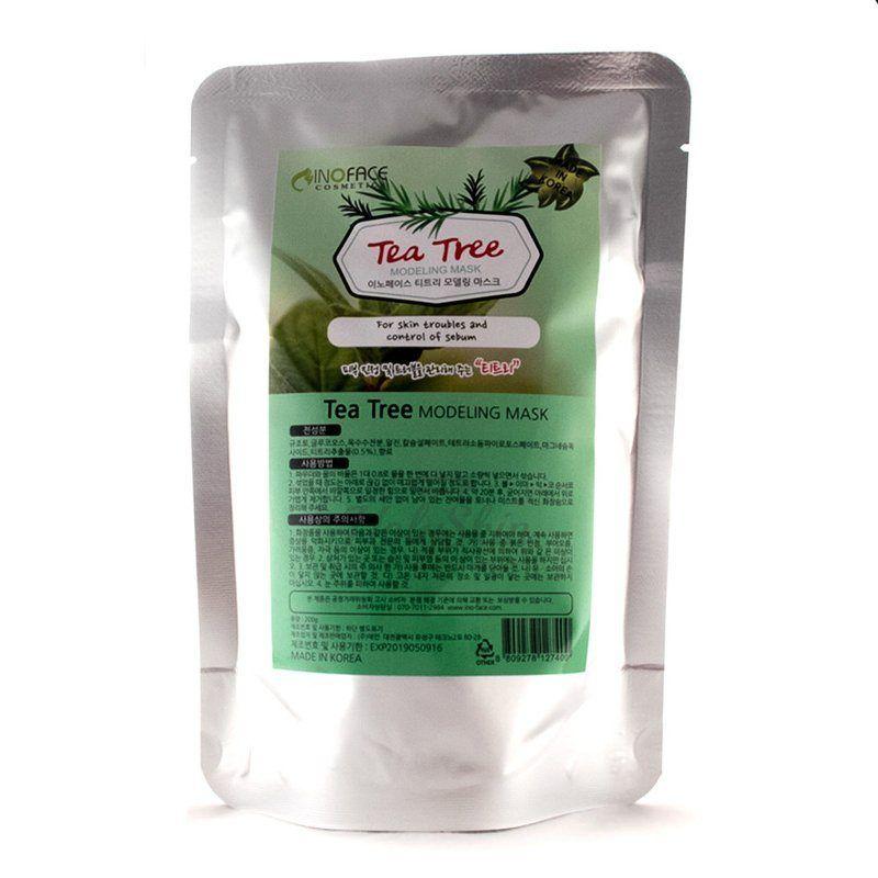 Купить Альгинатная маска для лица с чайным деревом Inoface, Tea Tree Modeling Mask, Южная Корея