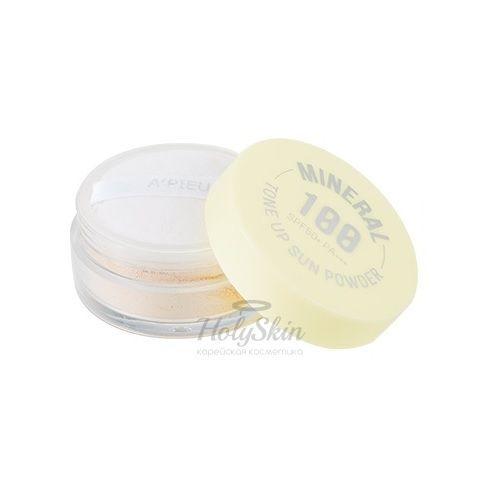 Купить Минеральная солнцезащитная пудра A'Pieu, Mineral 100 Tone Up Sun Powder, Южная Корея
