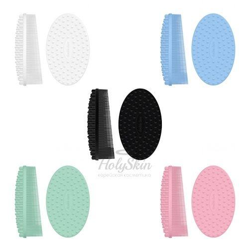 Купить со скидкой Силиконовая массажная щетка специально создана для эффективного очищения и массажа кожи лица и Т-зон