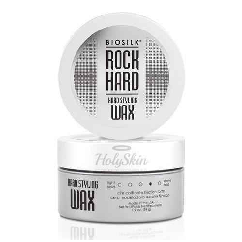 Купить Моделирующий воск средней фиксации для укладки волос BioSilk, BioSilk Rock Hard Hard Styling Wax 54 ml, США