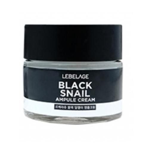 Купить Ампульный крем с муцином улитки Lebelage, Black Snail Ampule Cream, Южная Корея