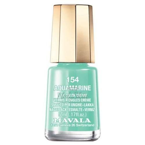 Купить Лак для ногтей аквамарин Mavala, Mavala Nail Color Cream 154 Aquamarine, Швейцария