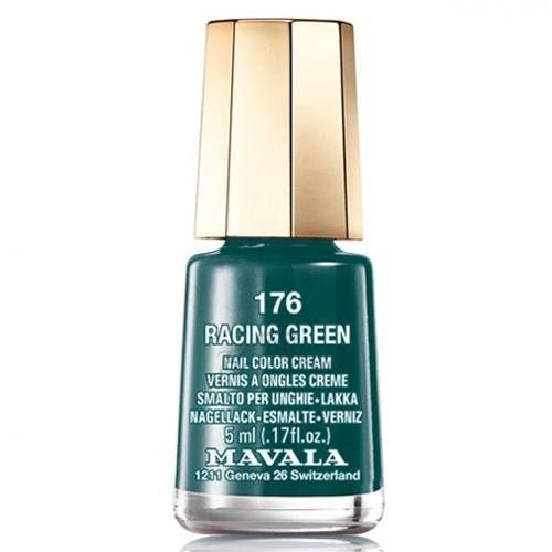 Сине-зеленый лак для ногтей Mavala Nail Color Cream 176 Racing Green