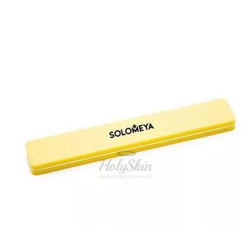 Купить Буффер-шлифовщик для ногтей Solomeya, Square Sanding Sponge Yellow 100/180, Великобритания