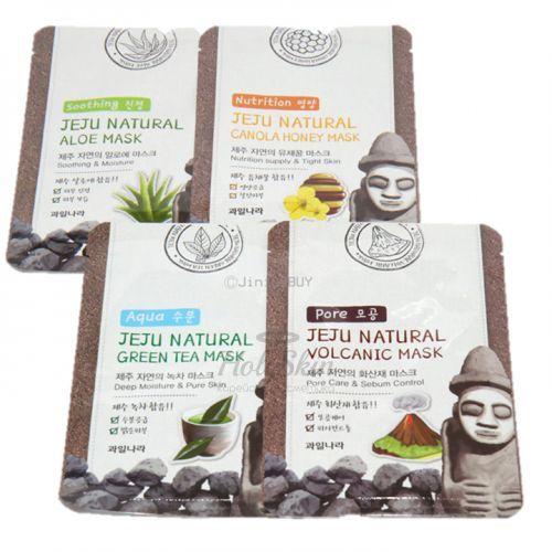 Купить Тканевая маска для лица Welcos, Jeju Natural Mask, Южная Корея