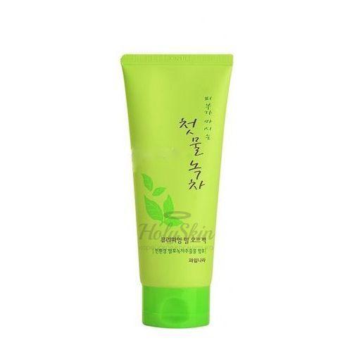 Купить Маска-пленка для лица с зеленым чаем Welcos, Green Tea Purifying Peel Off Pack, Южная Корея