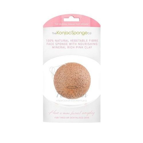 Купить Конжак с розовой глиной прекрасно ухаживает за чувствительной кожей. The Konjac Sponge Company, Konjac Facial Puff Sponge French Pink Clay, Великобритания